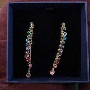 Swarovski 'Attract' multi colored drop earrings